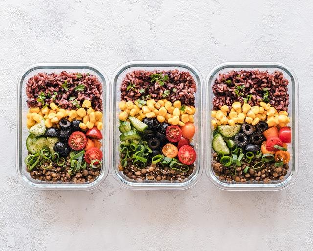 zdravé jídlo, zelenina, krabičky
